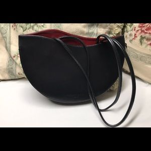 Tiffany And Fred black leather shoulder bag